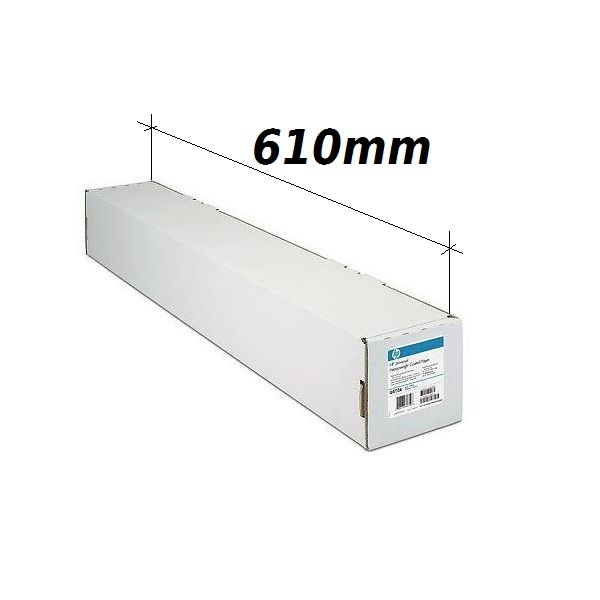 Plotera papīrs HP Coated C6019B ar izmēru 610mm x 45.7m 90g/m2