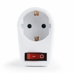 Single pass-through AC socket for electrical loads...