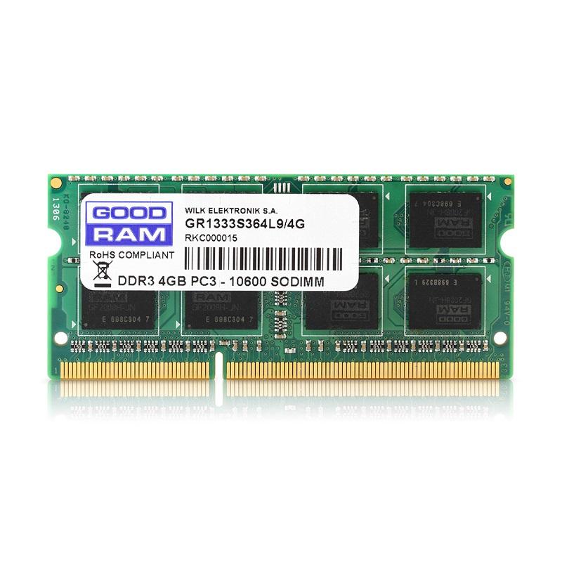 GoodRam DDR3 SODIMM 4GB / 1600 CL11
